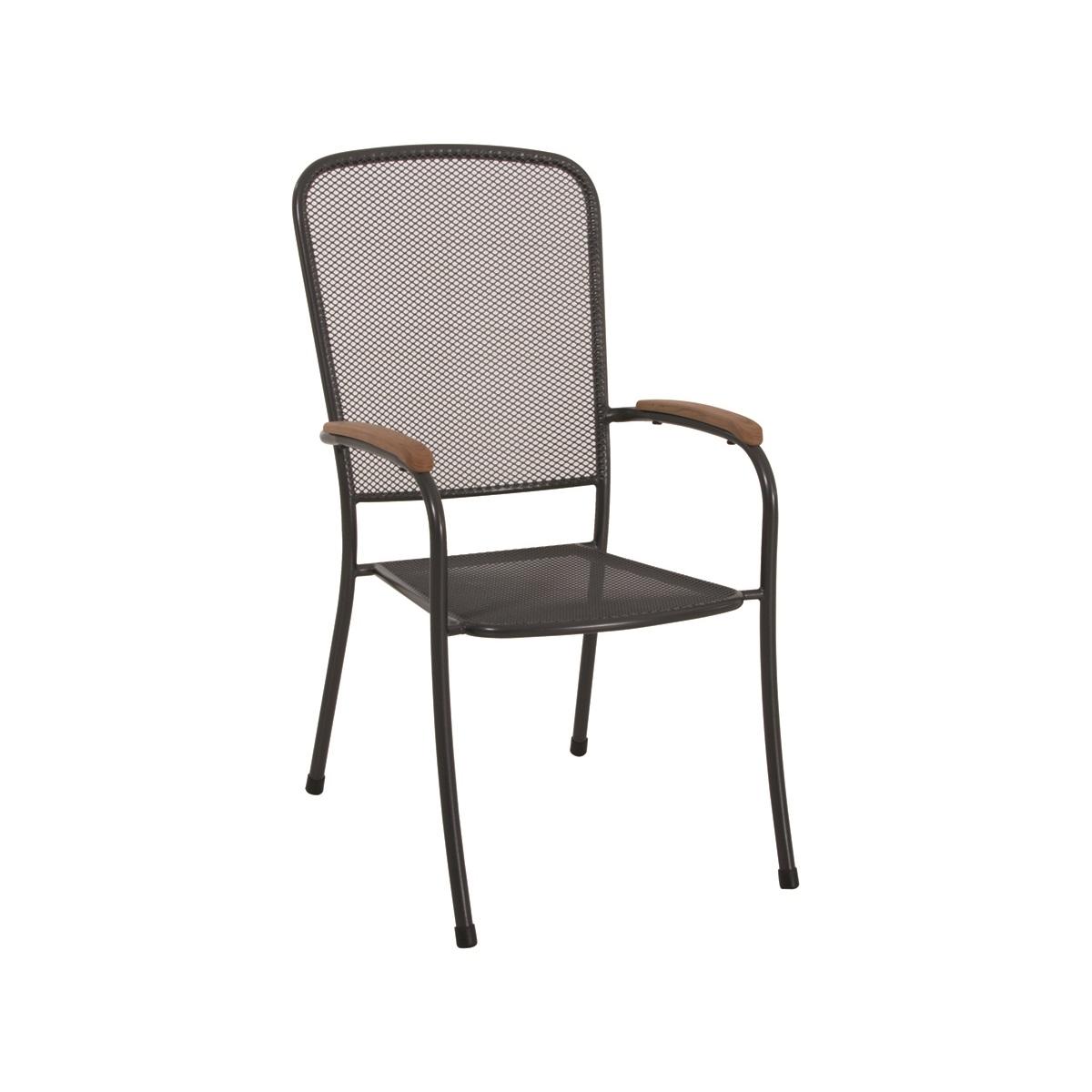 stohovatelná židle z tahokovu 66,5 x 54,5 x 98,5 cm MWH Mesona
