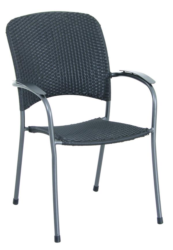 stohovatelná židle z tahokovu 66 x 59 x 89 cm MWH Carlos