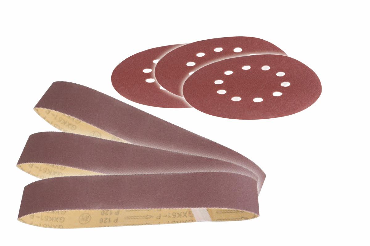 Scheppach sada brúsných pásov a papírov pre BTS 700