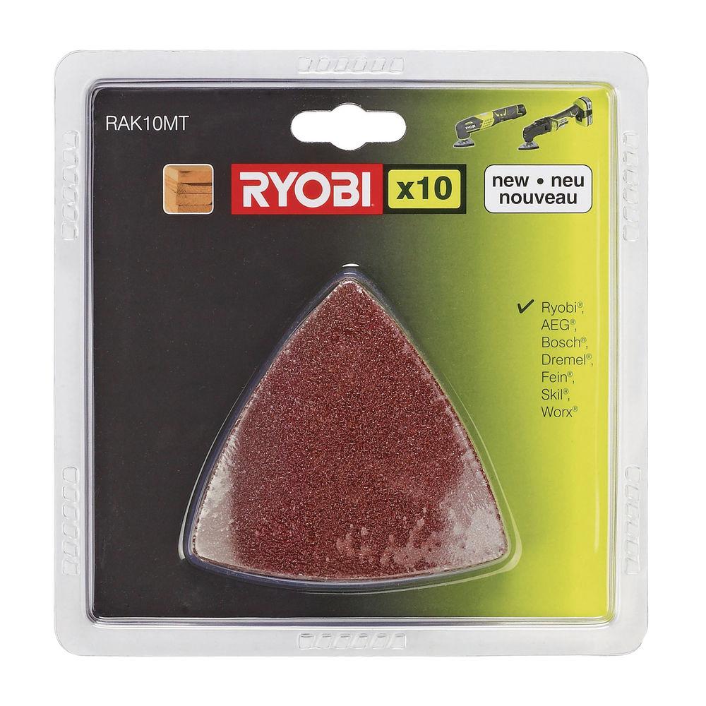Ryobi RAK 10 MTsada brúsnych papierov (10 ks) k RMT 1801 M, RMT 1201 M