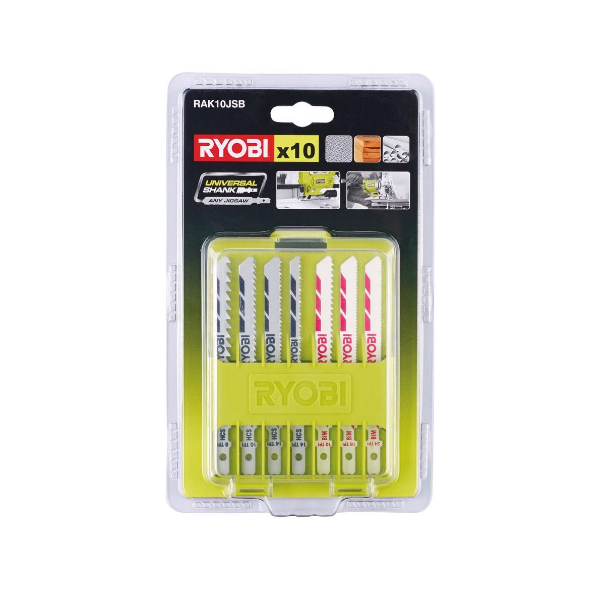 Ryobi RAK10JSB10ti dílná sada pilových plátků pro přímočaré pily