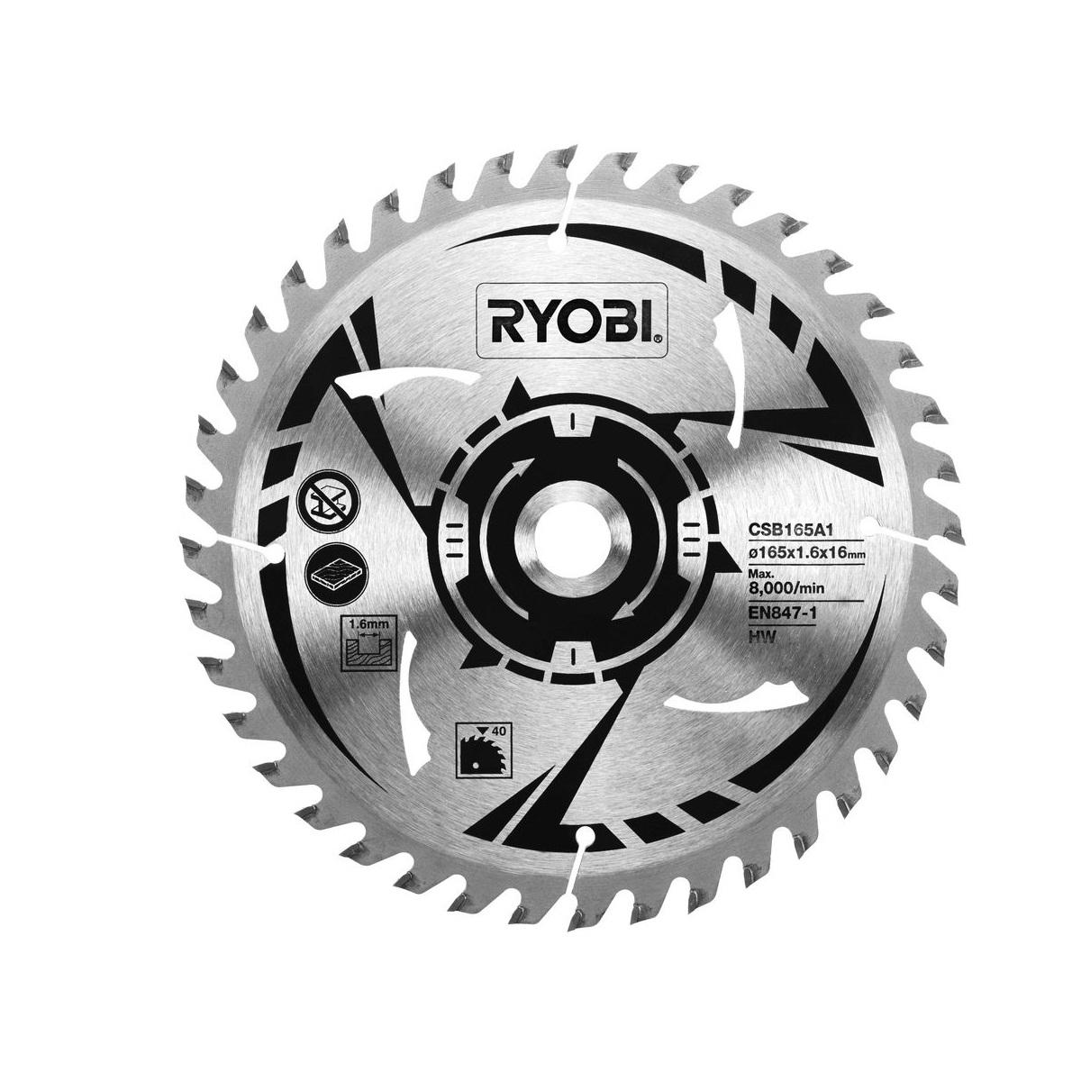 Ryobi CSB165A1pilový kotouč pr. 165/16mm, 40z. pro pily R18CS