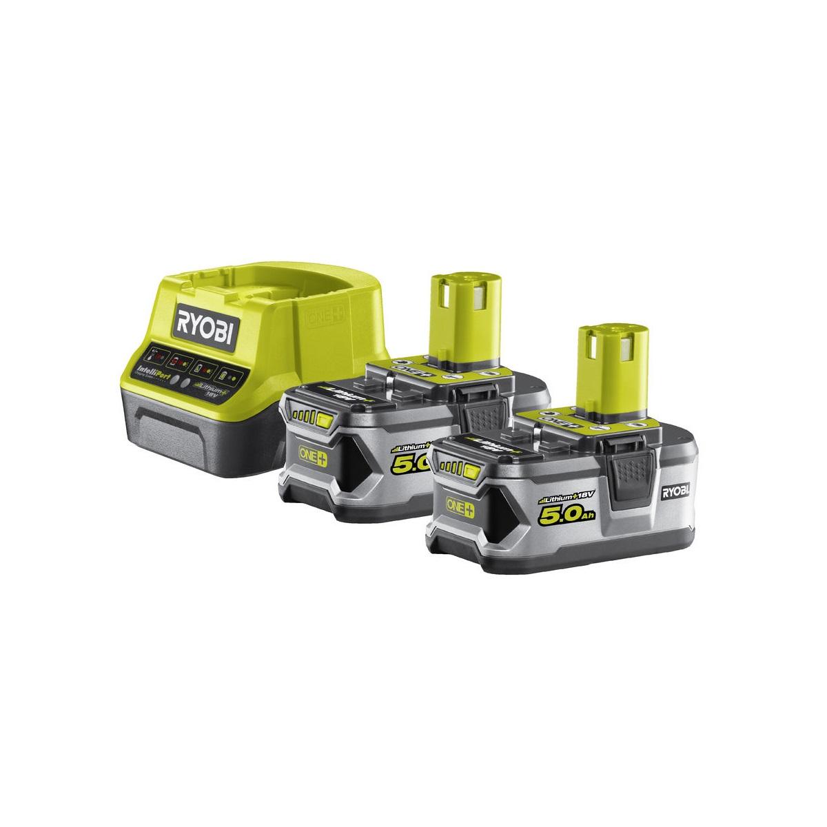 Ryobi RC18120-250sada 2x 18 V lithium iontová baterie 5 Ah s nabíječkou RC18120 ONE+