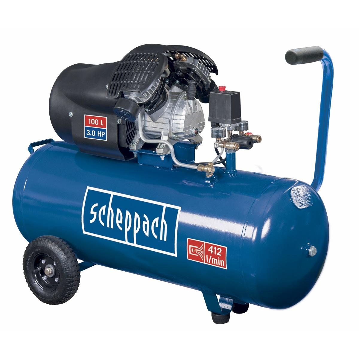 olejový kompresor 100 l Scheppach HC 100 dc