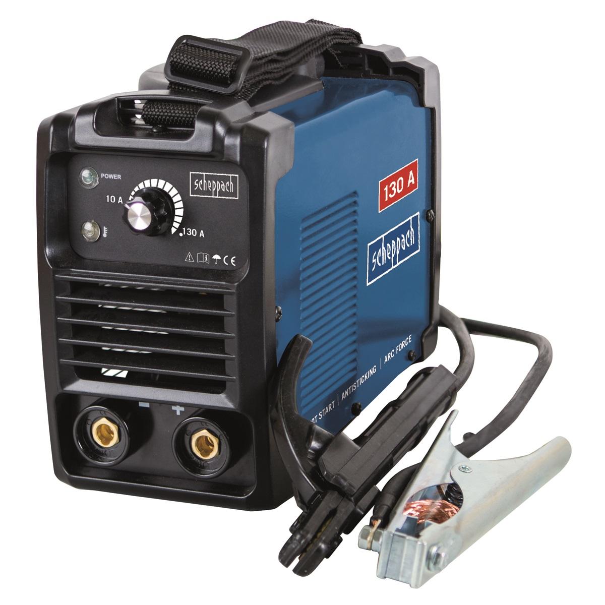 svářecí invertor 130 A s příslušenstvím Scheppach WSE860