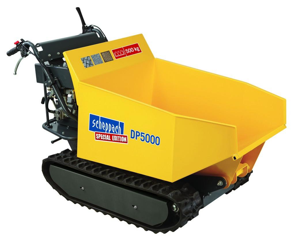 pásový prepravník 500 kg s hydraulickým sklápaním korby Scheppach DP 5000