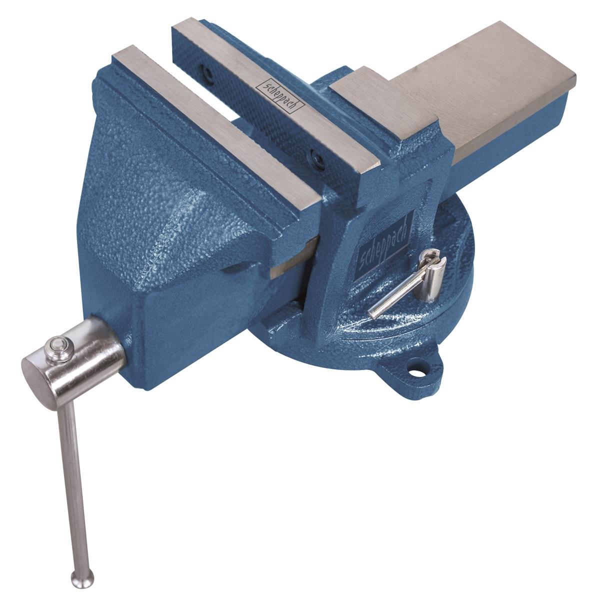 dielenský zverák s otočnou deskou a kovadlinou 100 mm Scheppach VS 100 U