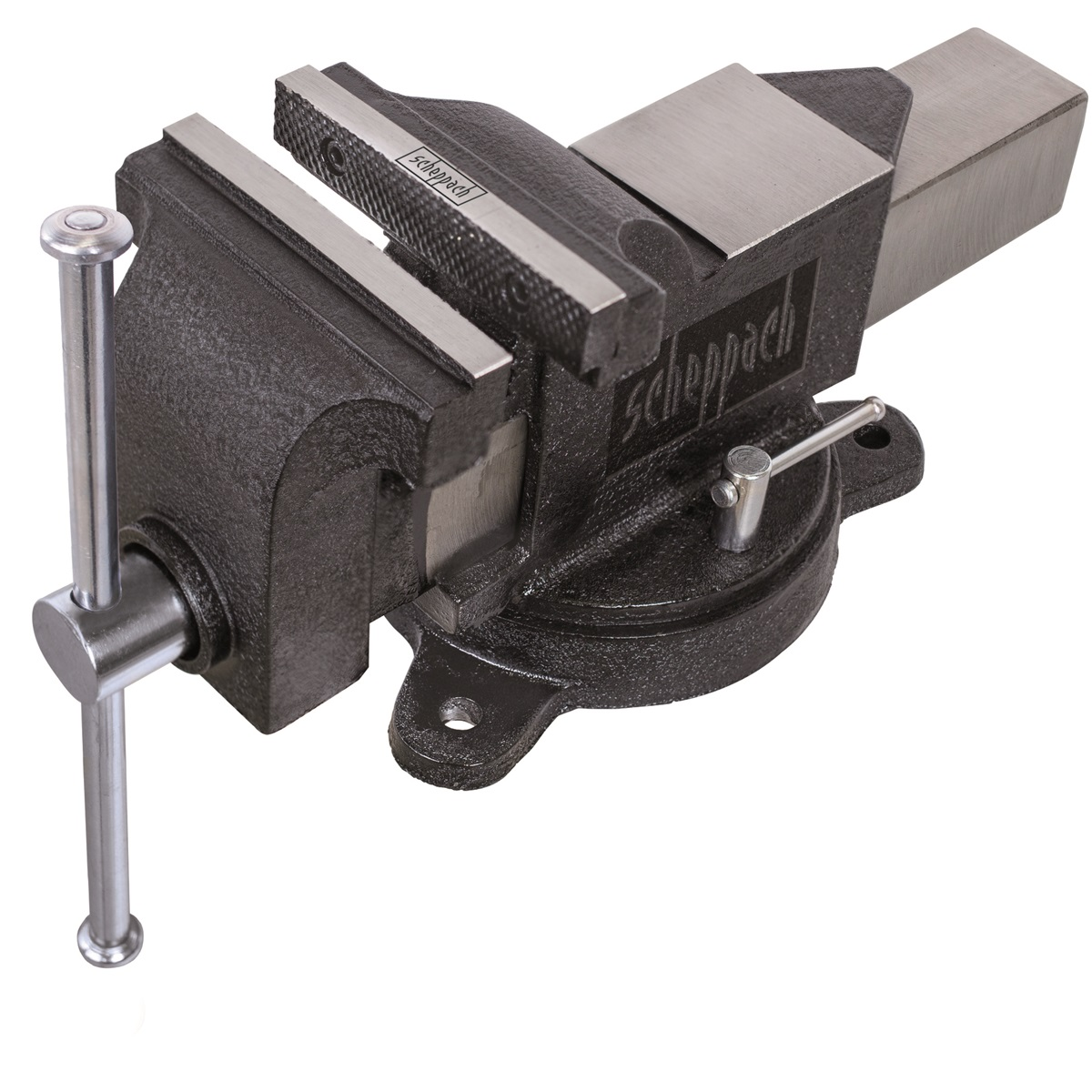priemyselný zverák s otočnou doskou a kovadlinou 100 mm Scheppach V 100 P