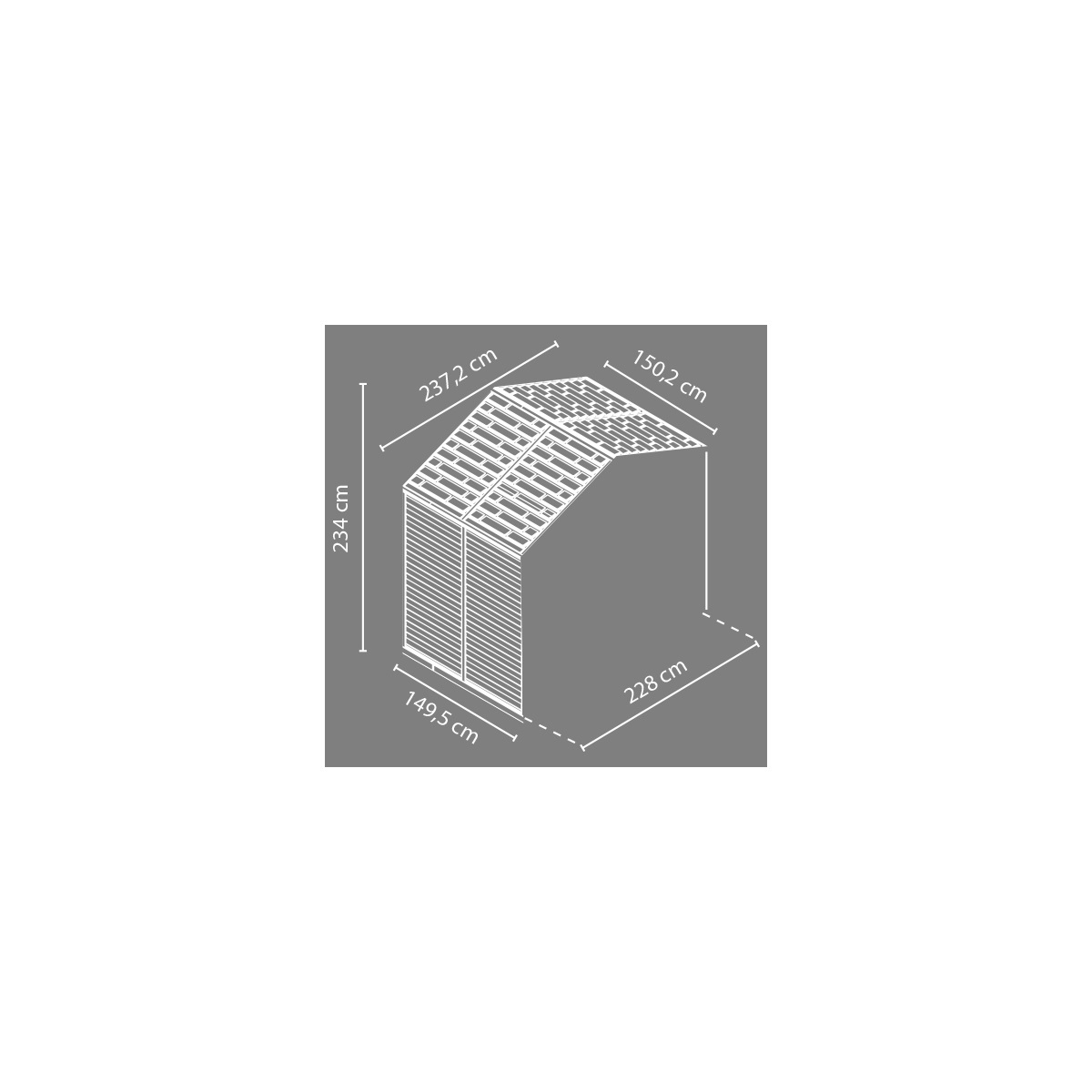 rozširovací modul Palram Skylight 8x4 šedý
