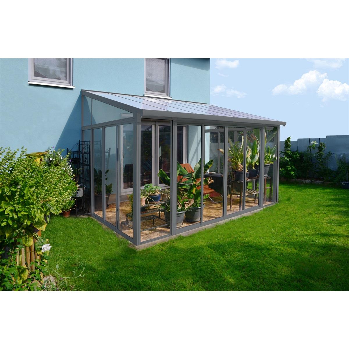 zimná zahrada Palram Torino 3x4,25 šedá