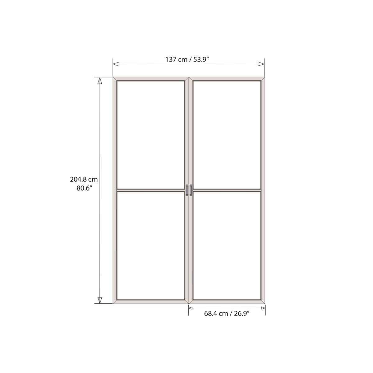 Palram Dveře s moskytiérou pro Torino 3 x 4,25 (antracit)