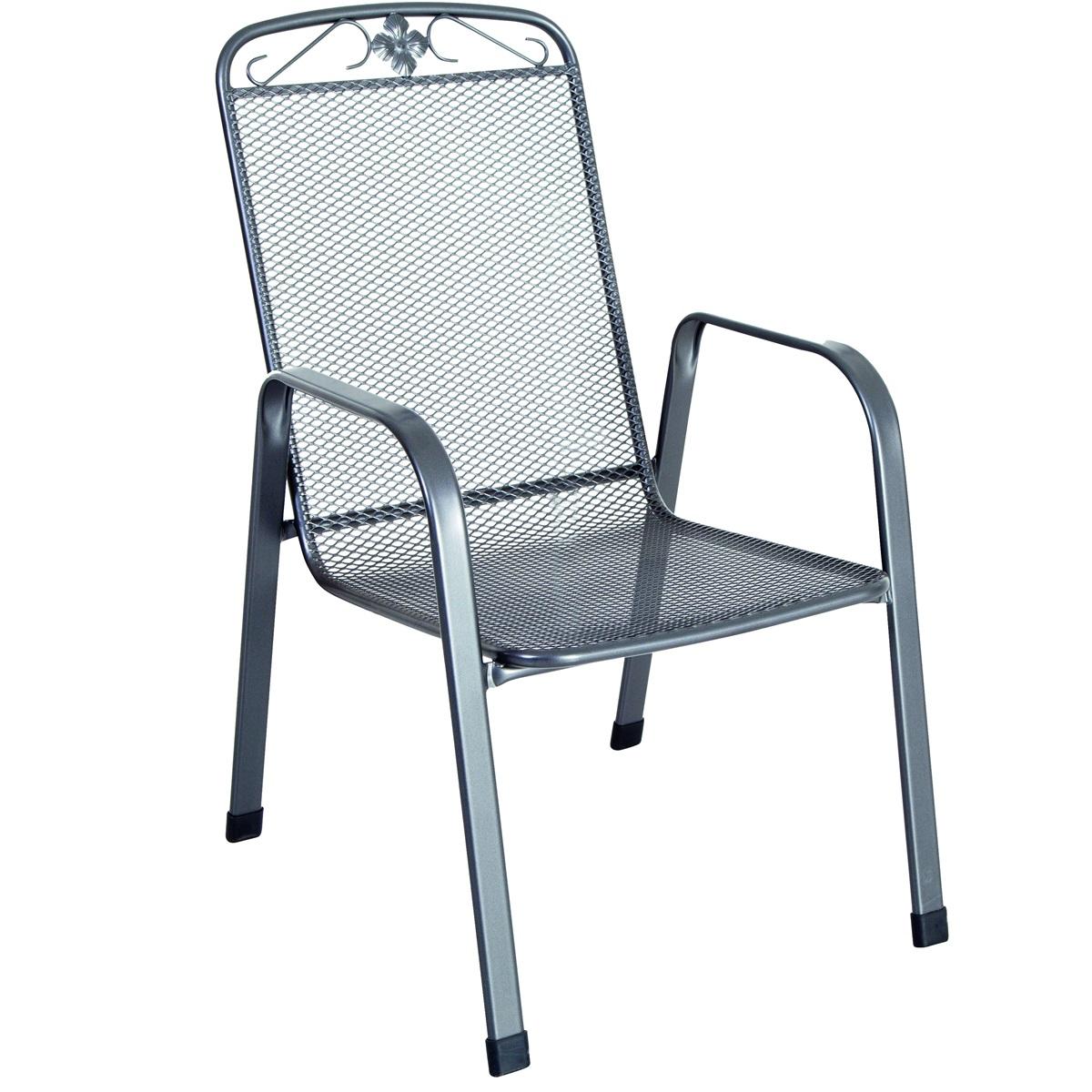 stohovatelná židle z tahokovu, tmavě šedá 75 x 57 x 93 cm MWH Savoy