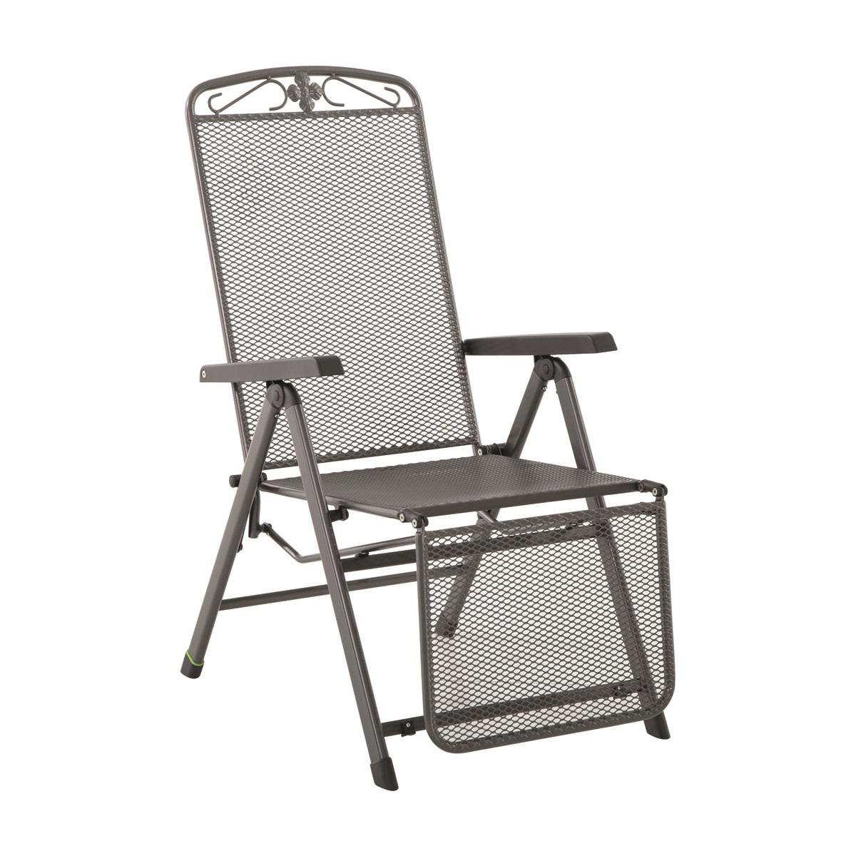 relaxační křeslo z tahokovu (5 pozic) 72,5 x 58 x 110 cm MWH Savoy 5-pos podnožkou
