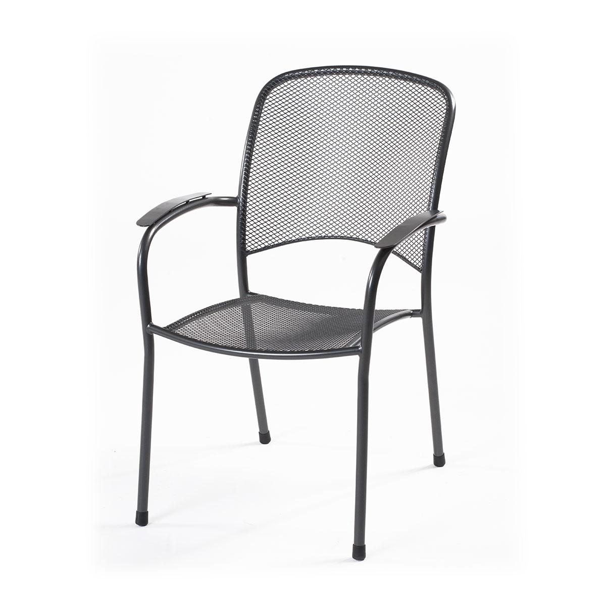 designová stohovatelná židle z tahokovu 65,5 x 58,5 x 89 cm, tmavě šedá MWH Carlo