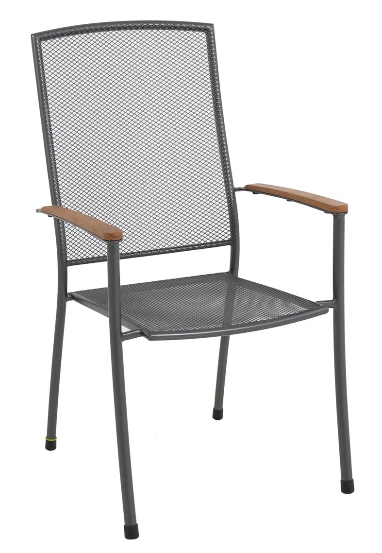stohovatelná židle z tahokovu 66,5 x 57,5 x 101 cm MWH Masao
