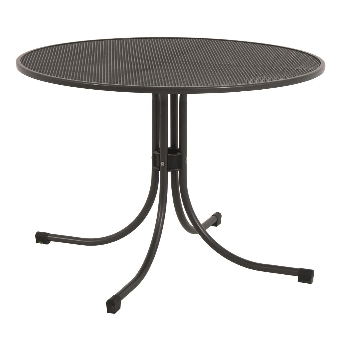 univerzální kulatý jídelní stůl z tahokovu pr. 105 cm / 74 cm MWH Universal 105