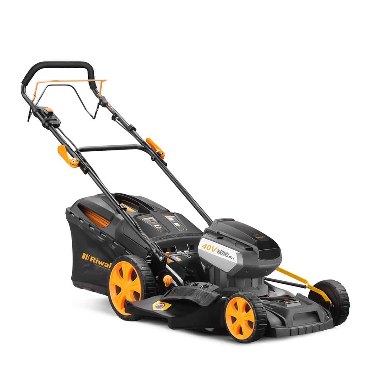 Riwall PRO RALM 4640 SPiakumulátorová trávna kosačka 40 V s pojazdom
