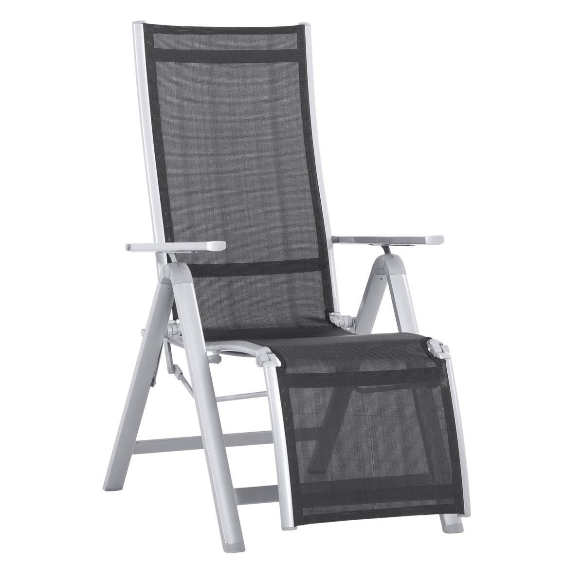 hliníkové relaxační polohovatelné křeslo 112 x 76 x 60 cm Creador Evan LUX Comfort