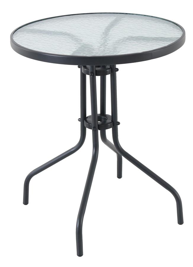 kovový stůl se skleněnou deskou Creador Pikolo Round