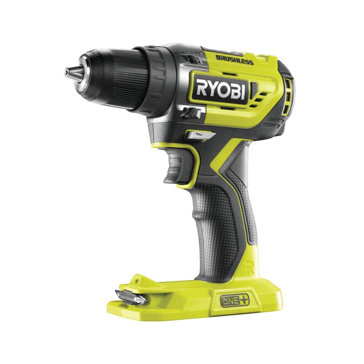 Ryobi R18DD5-0aku bezuhlíkový 18 V šroubovák/vrtačka ONE+(bez baterie a nabíječky)