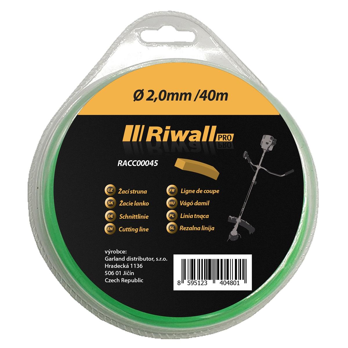 Riwall PRO Žacie lanko pr. 2mm, dĺžka 40m, štvorcový prierez