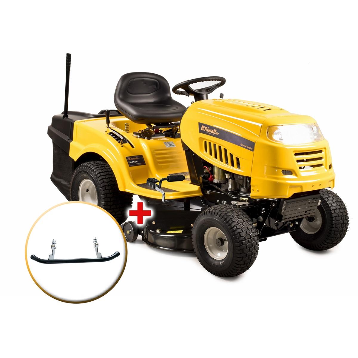 travní traktor se zadním výhozem a hydrostatickou převodovkou + nárazník Riwall PRO RLT 92 H