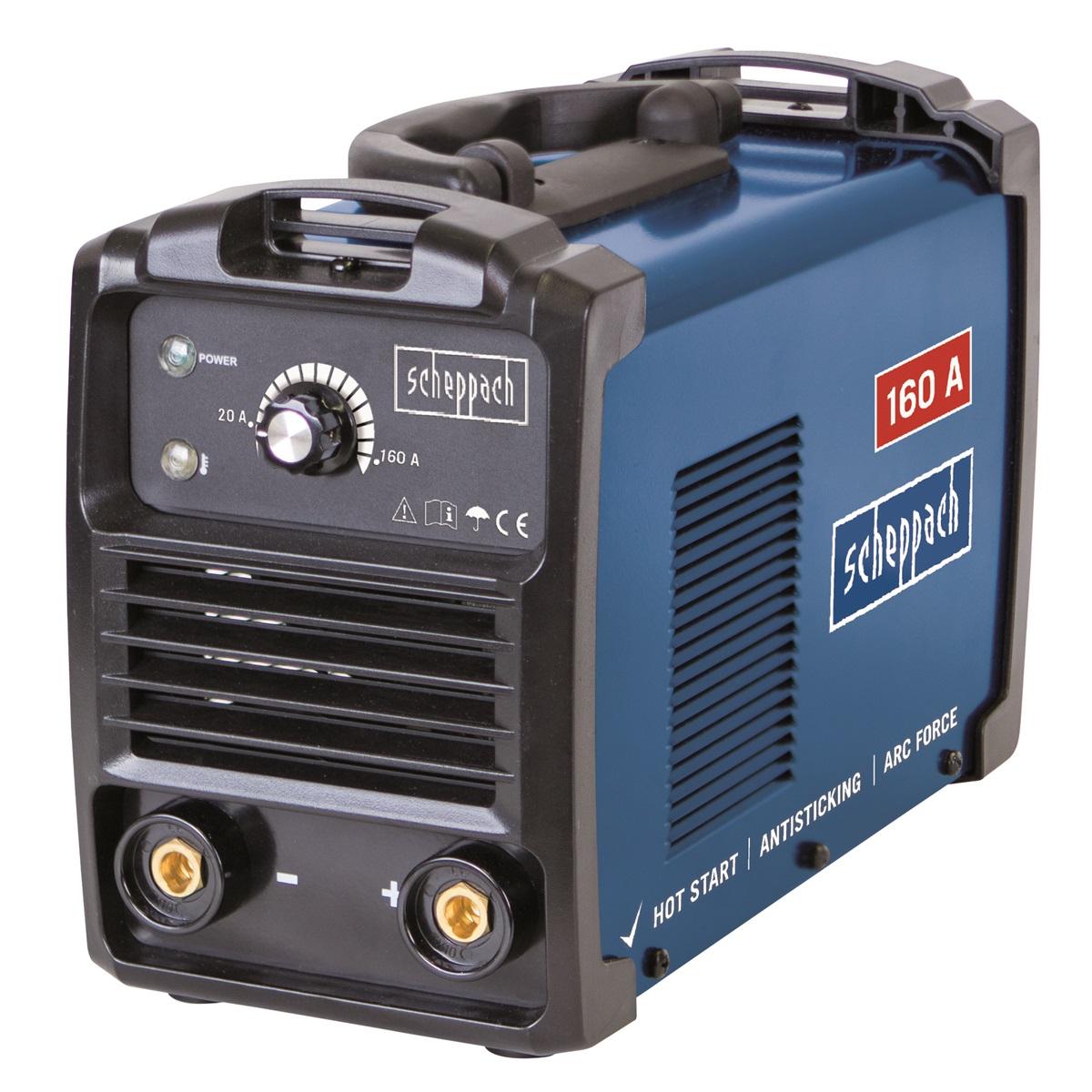 Scheppach WSE1100svářecí invertor 160 A s příslušenstvím