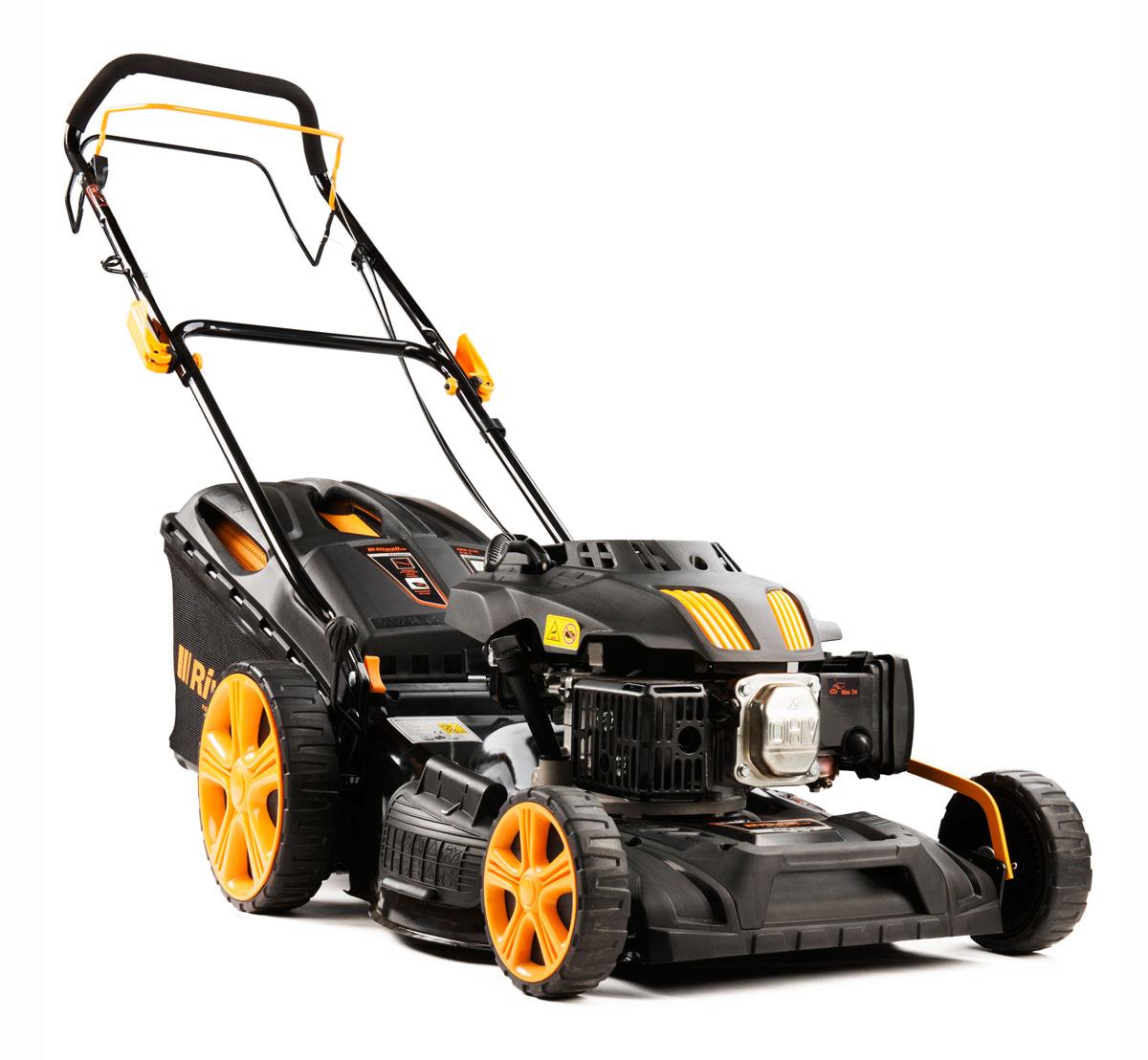 multifunkčna trávna kosačka 4 v 1 s benzínovým motorom a pojazdom Riwall PRO RPM 5135