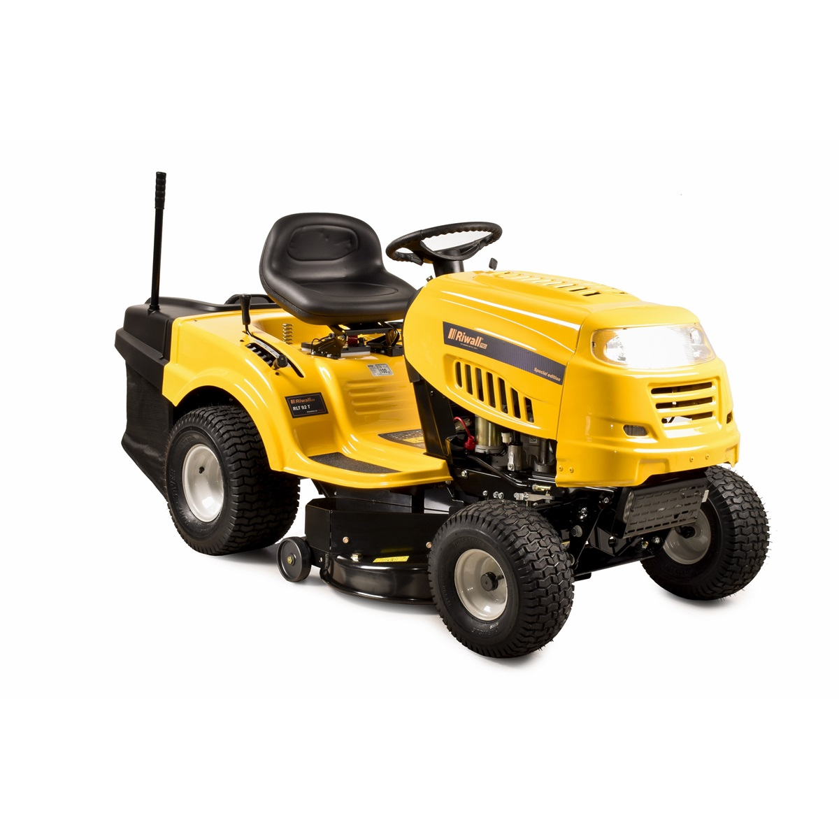 Riwall PRO RLT 92 T, travní traktor se zadním výhozem a 6-ti stupňovou převodovkou Transmatic