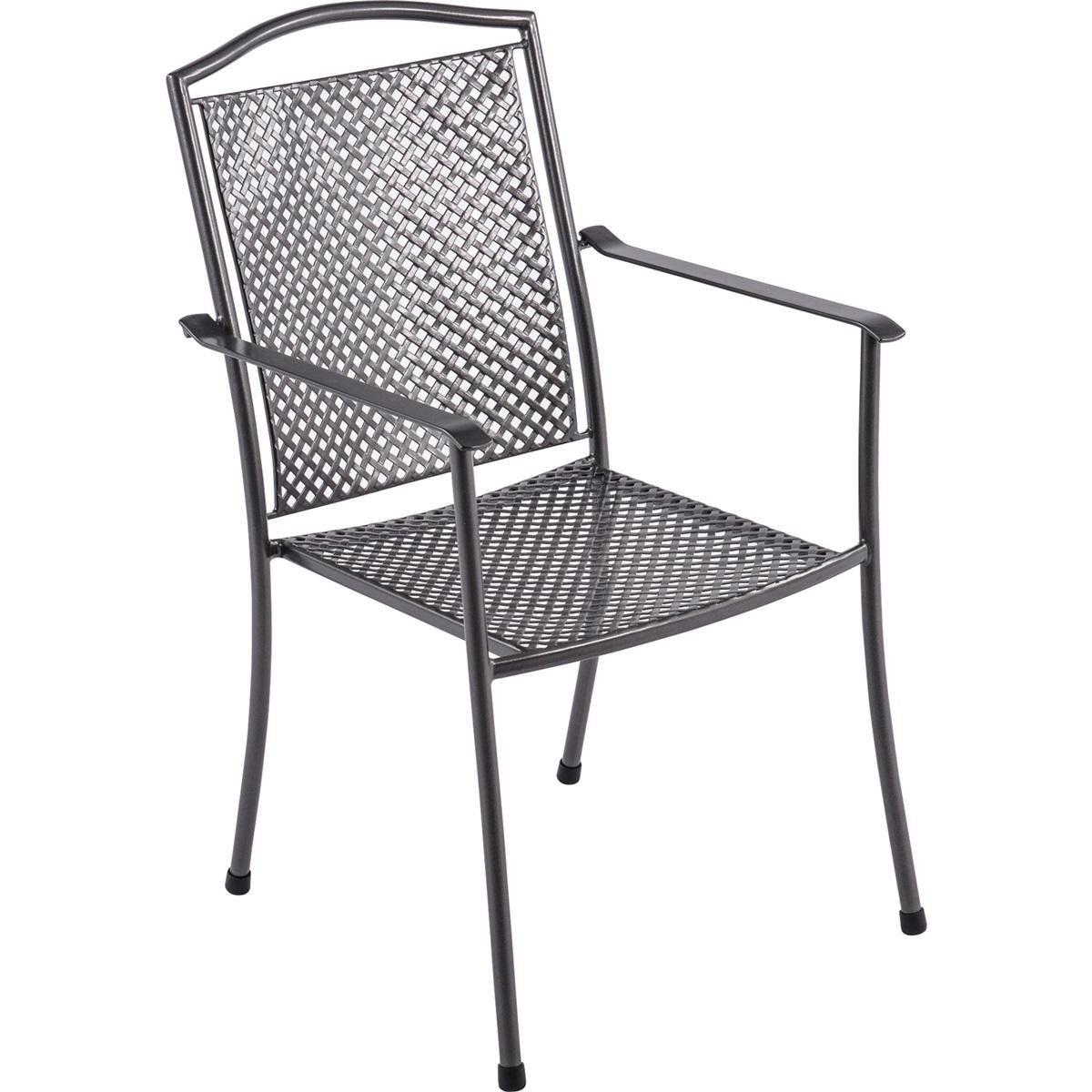 Royal Garden Domino steel, stohovatelná židle z tahokovu 66,5 x 55,5 x 92,5 cm