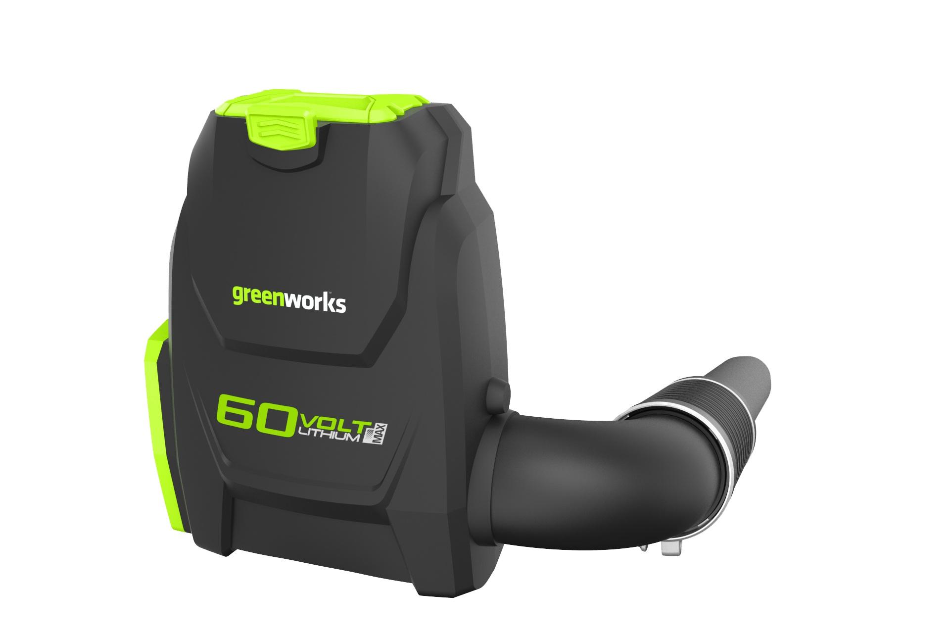 Greenworks GD60BLB, 60 V aku chrbtový fúkač s indukčným motorom