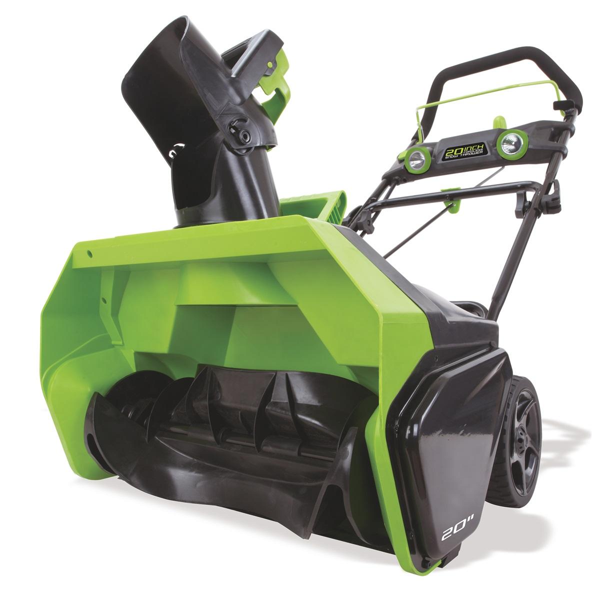 Greenworks GD40SB, akumulátorová snehová fréza 40 V s indukčným motorom