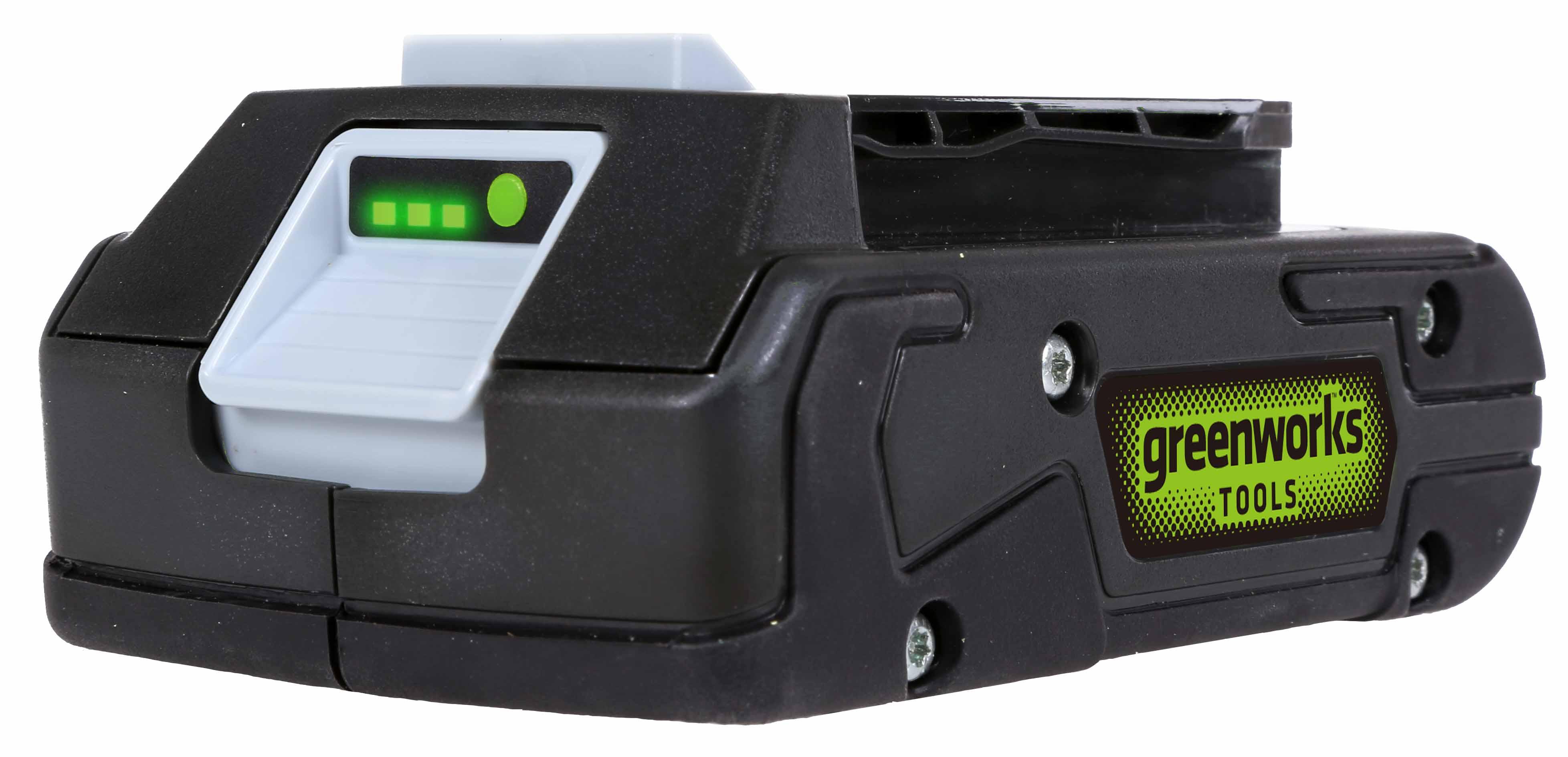 Greenworks G24B2, 24 V lithium iontová baterie 2 Ah (krátká verze)