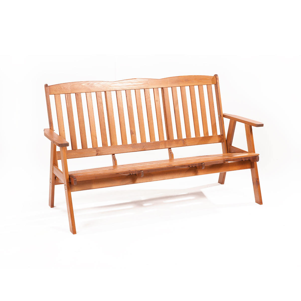 Garland Oliver, třímístná zahradní lavice z borovice