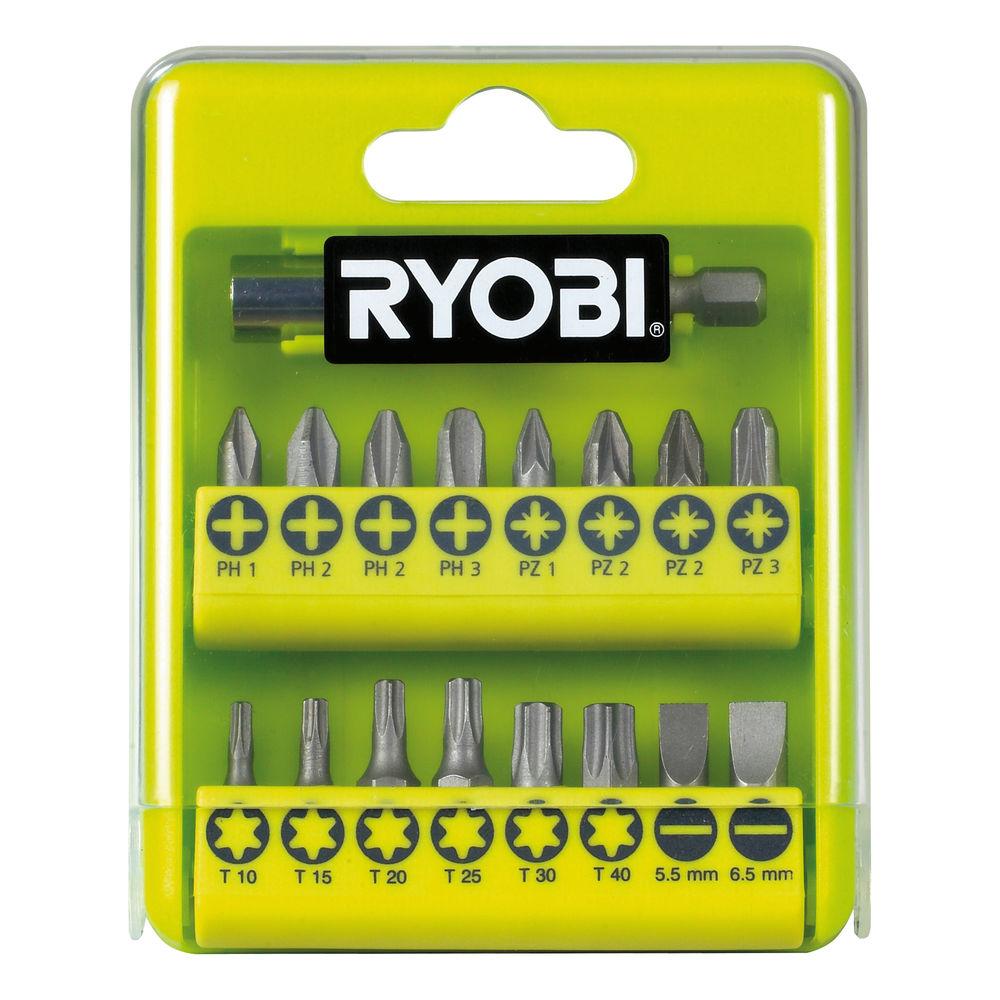 Ryobi RAK 17 SD, 17 ks sada šrobovacích bitov
