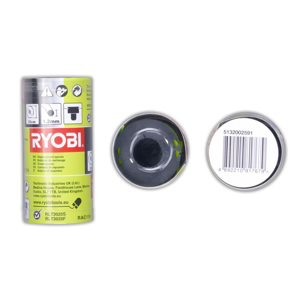Ryobi RAC 119, 3 x strunová hlava s strunou 1,2 mm RLT 3025 S