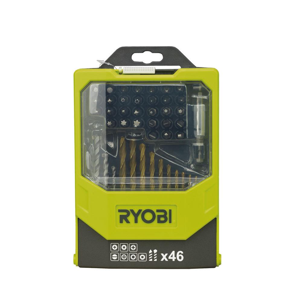 Ryobi RAK 46 MIX, 46 ks sada vrtákov a šrobovacích bitov