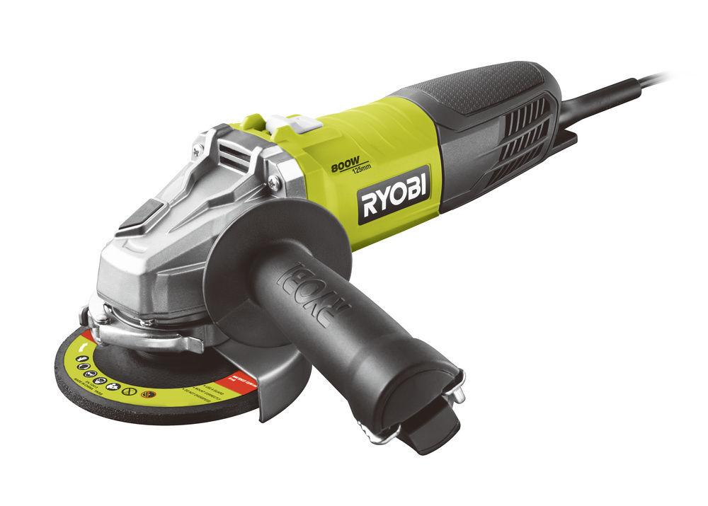Ryobi RAG800-125G, úhlová bruska 125 mm