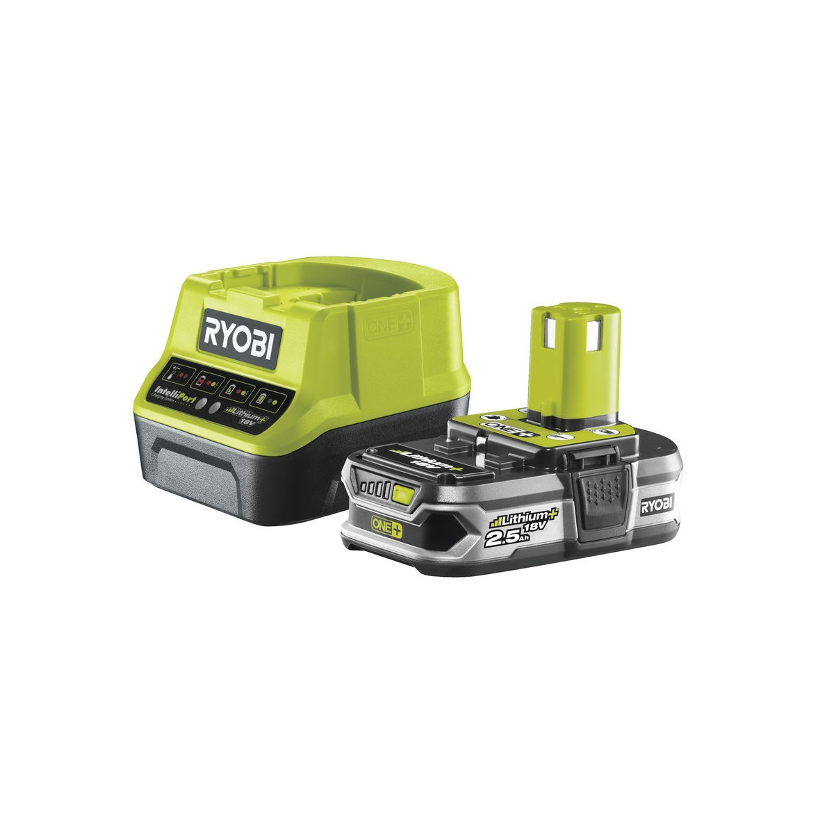 Ryobi RC18120-125, sada 18 V lithium iontová baterie 2,5 Ah s nabíječkou RC18120 ONE+