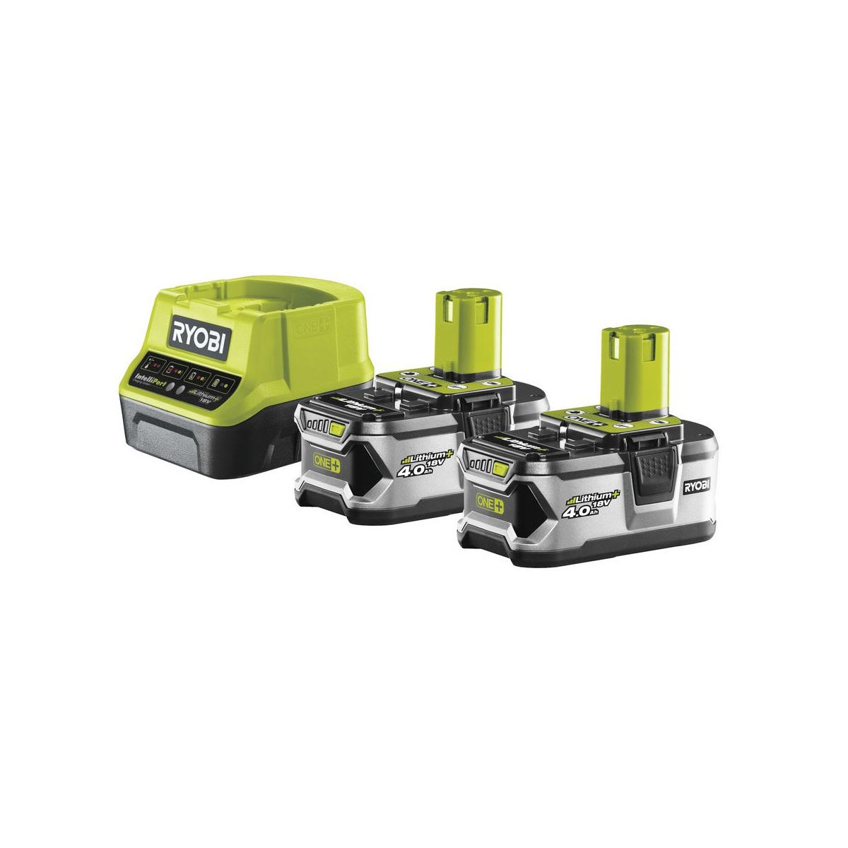 Ryobi RC18120-240, sada 2x 18 V lithium iontová baterie 4 Ah s nabíječkou RC18120 ONE+