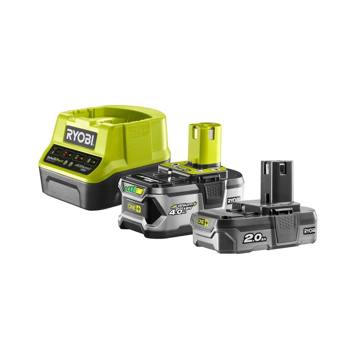 Ryobi RC18120-242, sada 18 V lithium iontová baterie 2 + 4 Ah s nabíječkou RC18120 ONE+