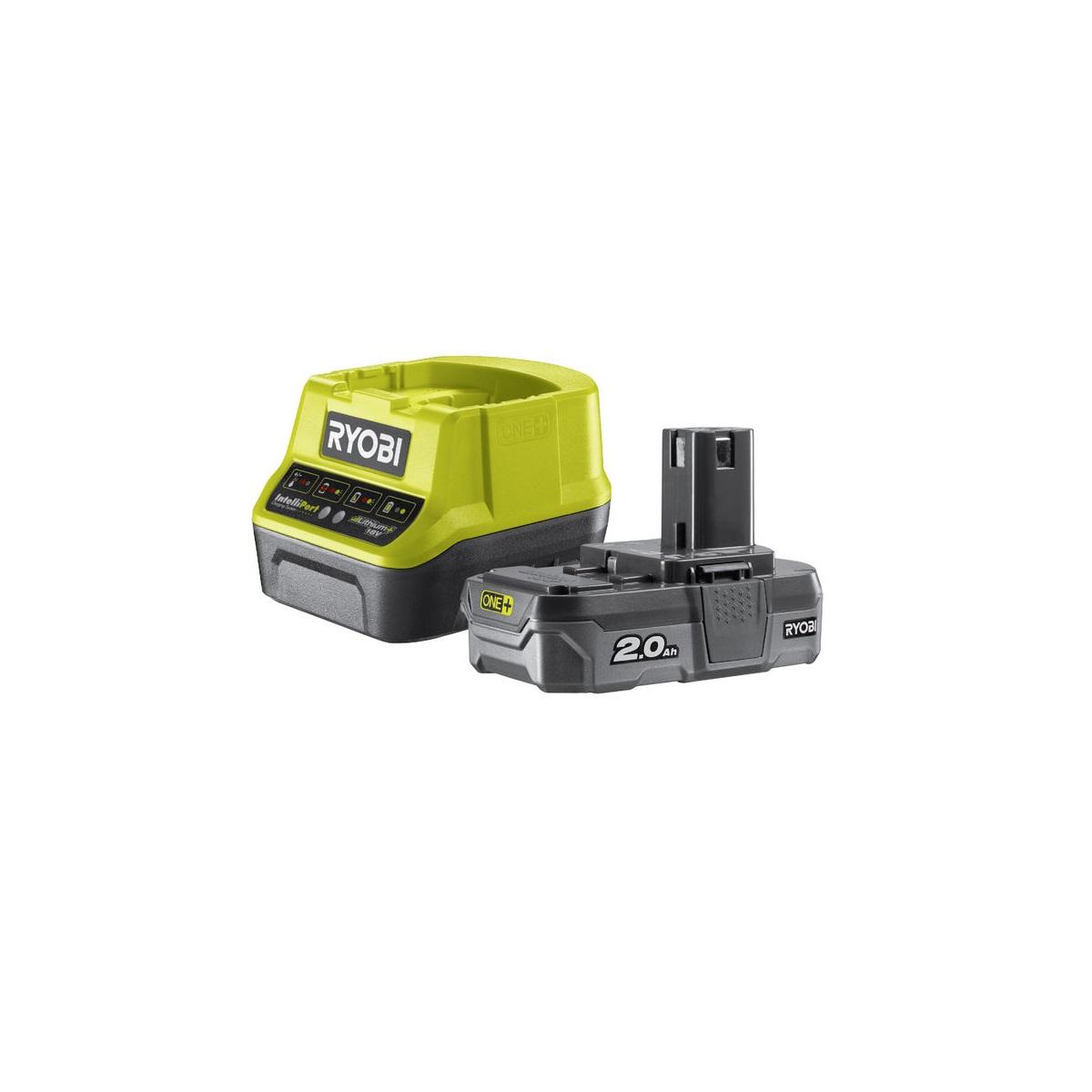 Ryobi RC18120-120, sada 18 V lithium iontová baterie 2 Ah s nabíječkou RC18120 ONE+