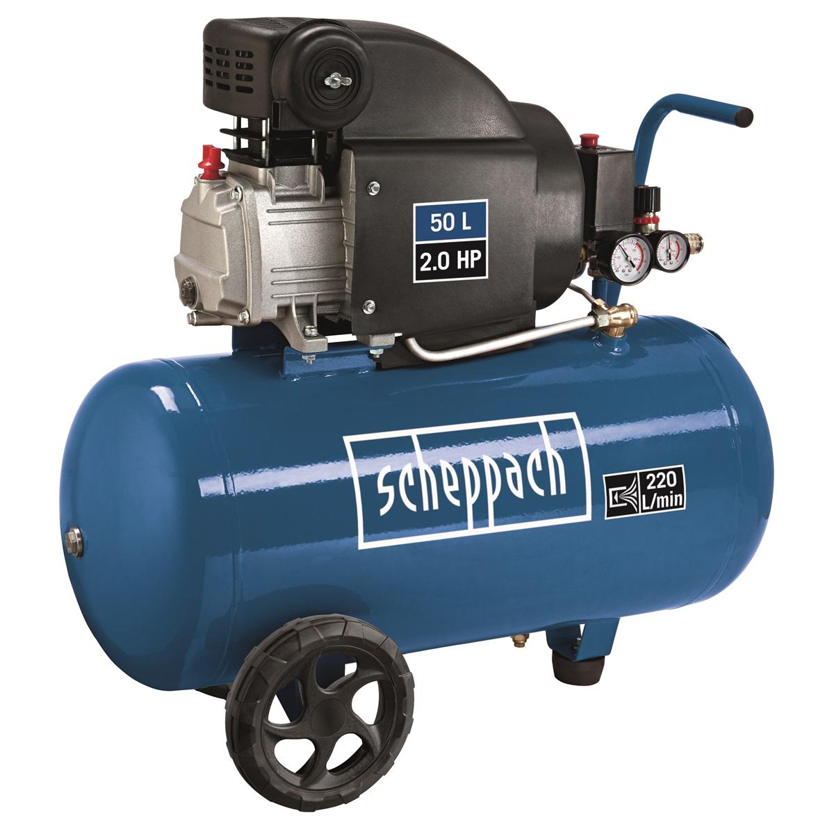 Scheppach HC 54, olejový kompresor 50 l