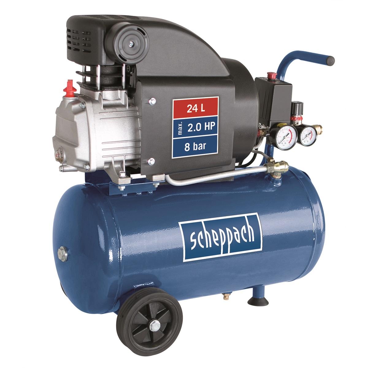 Scheppach HC 25, olejový kompresor 24 l