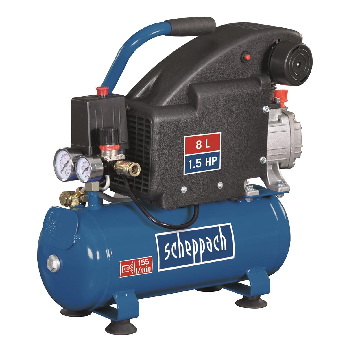 Scheppach HC 08, olejový kompresor 8 l