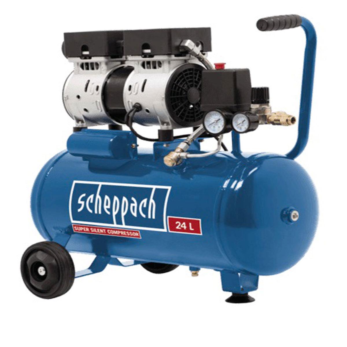 Scheppach HC 24 Si, tichý bezolajový kompresor