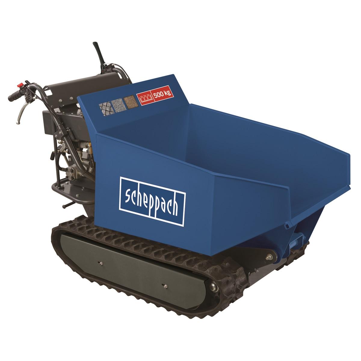 Scheppach DP 5000, pásový prepravník 500 kg s hydraulickým sklápaním korby