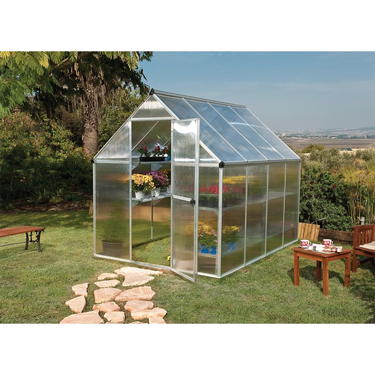 Palram multiline 6x8, polykarbonátový skleník