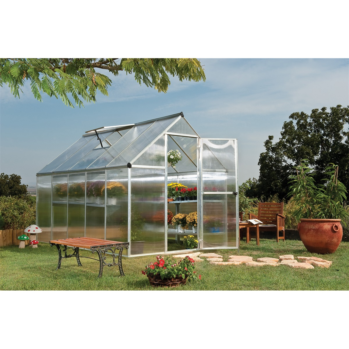 Palram multiline 6x10, polykarbonátový skleník