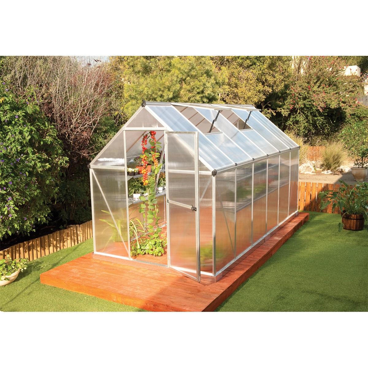 Palram multiline 6x12, polykarbonátový skleník